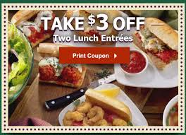 Two New Olive Garden Coupons Save $3 at Lunch & $5 at Dinner