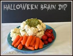 Puking Pumpkin Guacamole Dip by Halloween Appetizers Shaped Like Eyes Hungry Happenings Jack O