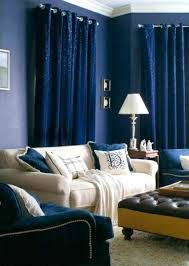 Navy Blue Room Family Ideas With Curtains And Tan Sofa