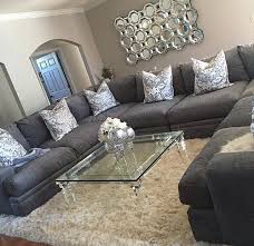 Living Room Decor Gray And Silver