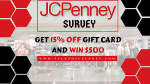 JCPenney Survey: Win $500 Gift Card Or 15% Discount Coupon