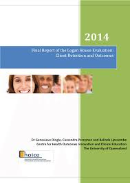 100 The Logan House PDF Final Report Of The Evaluation Client Retention