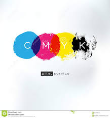 Royalty Free Vector Download CMYK Print Service Artistic Logo