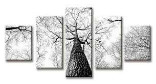 Get Quotations Unixtyle HD Print Painting Tall Tree Without Leaves Forest Winter Landscape Wall Art Stretched