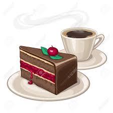 kuchen auf einem teller und eine tasse kaffee isoliert auf weißem hintergrund