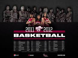 Sports Graphic Design For 2011 2012 EKU Womens Basketball Poster