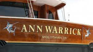 boats transom artwork painting everett nautical designs