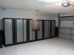 minimalist garage with lowes garage storage cabinets dark grey