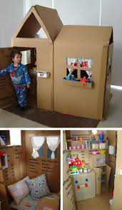 Inspiring DIY Cardboard Playhouse