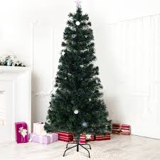 6 Ft Fiber Optic Artificial Christmas Tree W Multicolor Lights Stand
