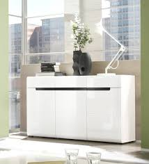 kommode 2497aj 42 sideboard wohnzimmer 136cm weiß front mdf hochglanz