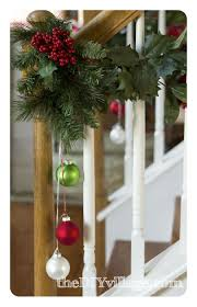 Christmas Banister Garland - The DIY Village Christmas Decorating Ideas For Porch Railings Rainforest Islands Christmas Garlands With Lights For Stairs Happy Holidays Banister Garland Staircase Idea Via The Diy Village Decorations Beautiful Using Red And Decor You Adore Mantels Vignettesa Quick Way To Add 25 Unique Garland Stairs On Pinterest Holiday Baby Nursery Inspiring The Stockings Were Hung Part Staircase 10 Best Ideas Design My Cozy Home Tour Kelly Elko