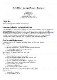 New Store Incharge Resume Format Pdf Retail Manager Skills Free