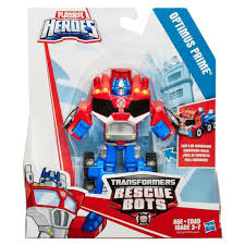 Transformers Rescue Bots Original Optimus Prime Retro- Robot To Truck