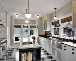 Awesome Galley Kitchen Designs With Island 62 In Image