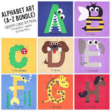 A To Z Alphabet Art Template Upper Case Letters Bundle