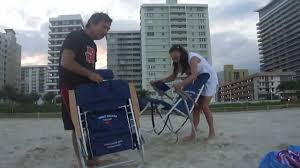 Rio Gear Backpack Chair Blue by How To Close A Tommy Bahama U0027s Beach Chair Youtube