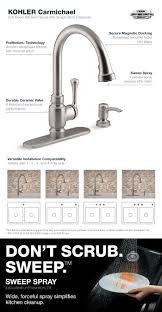 Kohler Bathroom Sinks At Home Depot by Kohler Carmichael Single Handle Pull Down Sprayer Kitchen Faucet