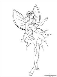 Barbie Mariposa Coloring Page For Kids