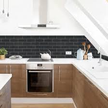 küchenrückwand keramikfliesen schwarz küche klebefolie