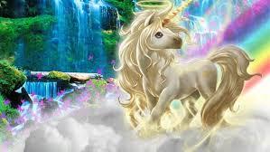 Beautiful 3d Picture Unicorn Silk Clouds Rainbow Wallpaper Hd