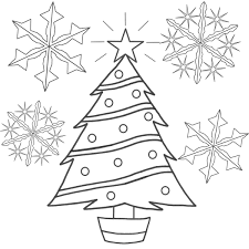 Printable Christmas Tree Coloring Pages ColoringMecom