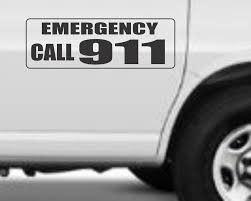 100 Magnetic Truck Signs EMERGENCY CALL 911 For Car SUV 6x18 EBay