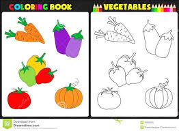 Fruit Vegetable Coloring Pages Garden Pictures To Color Book Vegetables Nature Page Kids Colorful Sketches