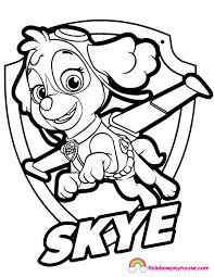 Skye Paw Patrol Badge Coloring Page