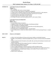 Download Licensed Massage Therapist Resume Sample As Image File