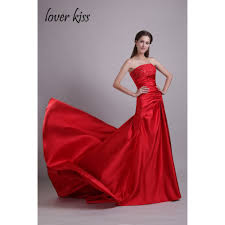 online get cheap strapless red prom dresses aliexpress com