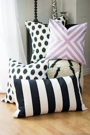 Decorative Couch Pillow Covers by Diy No Sew Pillow Covers Homey Oh My