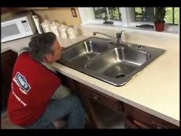 Installing Sink Strainer In Corian by How To Replace A Kitchen Sink Youtube