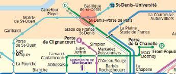 metro denis porte de denis porte de station map metro