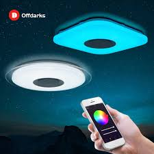 offdarks moderne led decke licht bluetooth lautsprecher mit fernbedienung app wohnzimmer schlafzimmer küche decke le