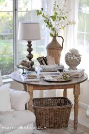 Table From Heather Bullard Maybe Good For The Family Room Corner Crafts And Sewing Especially With Stash Basket Underneath Can Hide Project