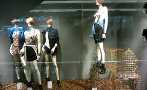 Another Autumn Window Display From Stradivarius In Which Are Placed Some Empty Cages The