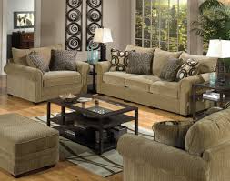 Modern Rustic Living Room Design With Indoor Plant And Cozy Brown Sofa