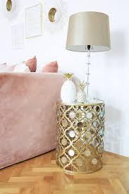 runder orientalischer beistelltisch mit spiegelplatte spiegelelementen gold