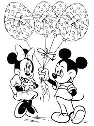 Disney Easter Coloring Pages And Mickey Eggs Balloons Cute