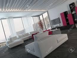 up möbliert elegantes wohnzimmer design mit weiß schwarz und dunkles rosa möbel