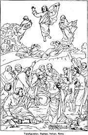 The Transfiguration Catholic Coloring Page Raphael Vatican Rome