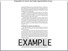 Separation Of Church And State Argumentative Essay Best College Application Ever Written Practice Edexcel