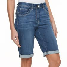women u0027s kate and sam jean bermuda shorts size 12 blue other