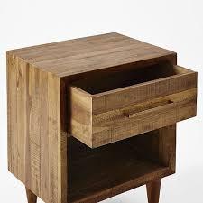 Alexa Reclaimed Wood Nightstand Honey West Elm Throughout Wooden