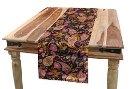 Amazon.com: Lunarable Jacobean Table Runner, Persian Paisley ... Jacobean Style Ding Table And Six Chairs Set Of 8 Oak Lp1722 English Large Ref No 03869c Regent Antiques Jacoelizabethan Era 1900s Oak Ding Table With Leaf Antique Room Tables Awesome Pin On Fniture Tonawanda Woodworks Circa 1920s 6 Chairs Angelus Mfg Co Indoor Chair Elizabethan Pottery Details About Sideboard Sver Buffet Kitchen Hand Crafted Reclaimed Wood Farmhouse With Beautiful
