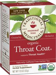 Rite Aid Christmas Tree Stand by Traditional Medicinals Herbal Tea Organic Throat Coat Caffeine