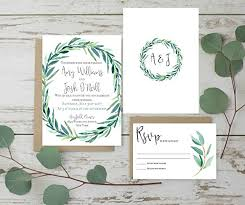 Wedding Invitations Set Rustic Invites Eucalyptus Invitation Of 10