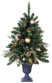 Pre Lit Entryway Christmas Trees by Outdoor Frosted Full1 Pre Lit Tabletop Christmas Trees 3ft