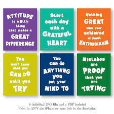 Motivational Quote Posters Kids Download Inspirational Colorful Kid Room Wall Art Set Decor Jpg Pdf Printable Digital Print Instant